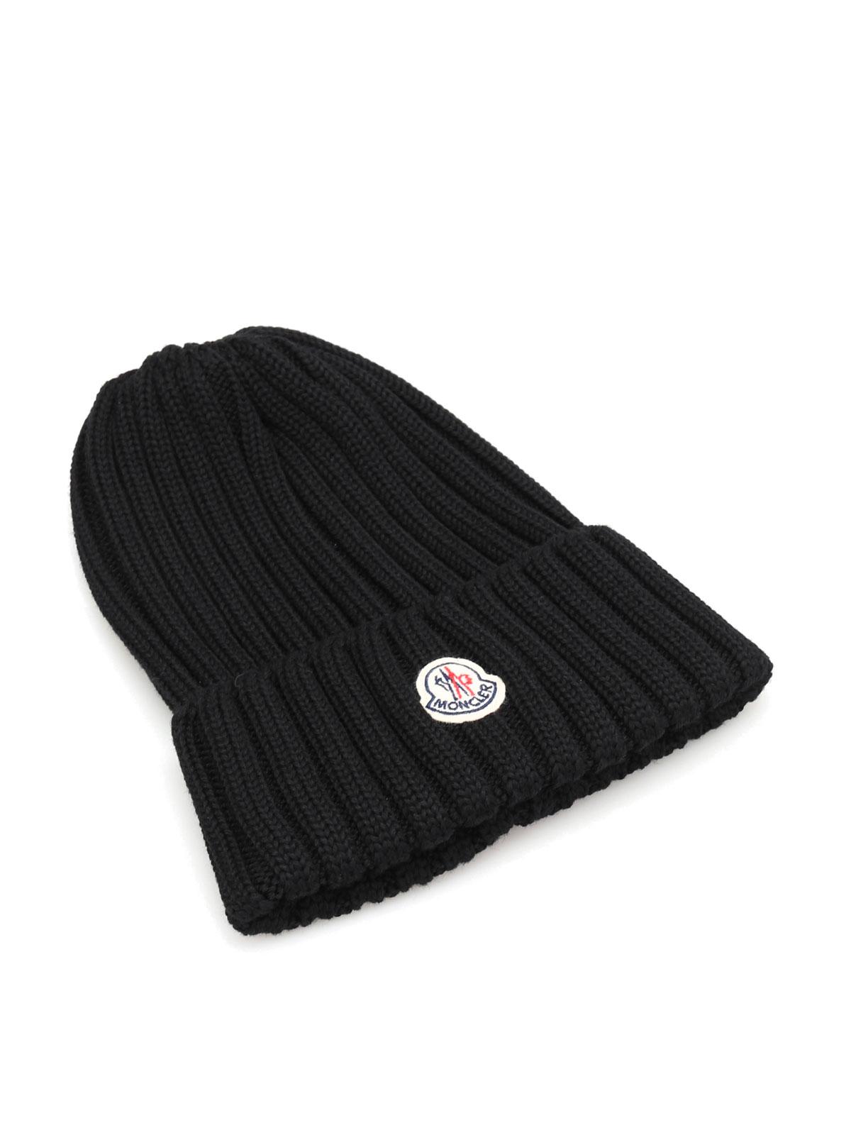 eba0b63bab5 Moncler - Knit virgin wool beanie - beanies - B2 093 0022000 03510 999