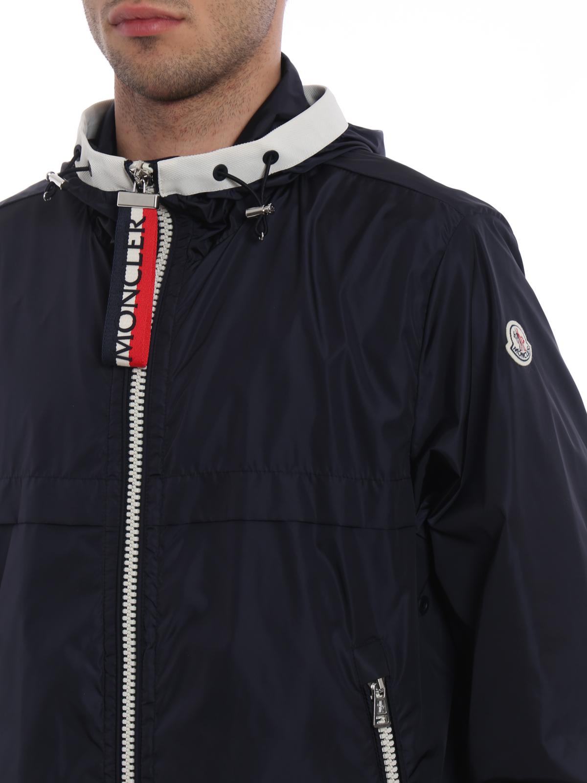 scuro casual antivento D1 blu Moncler Giacca giacche Alshat qOwK16Iz8