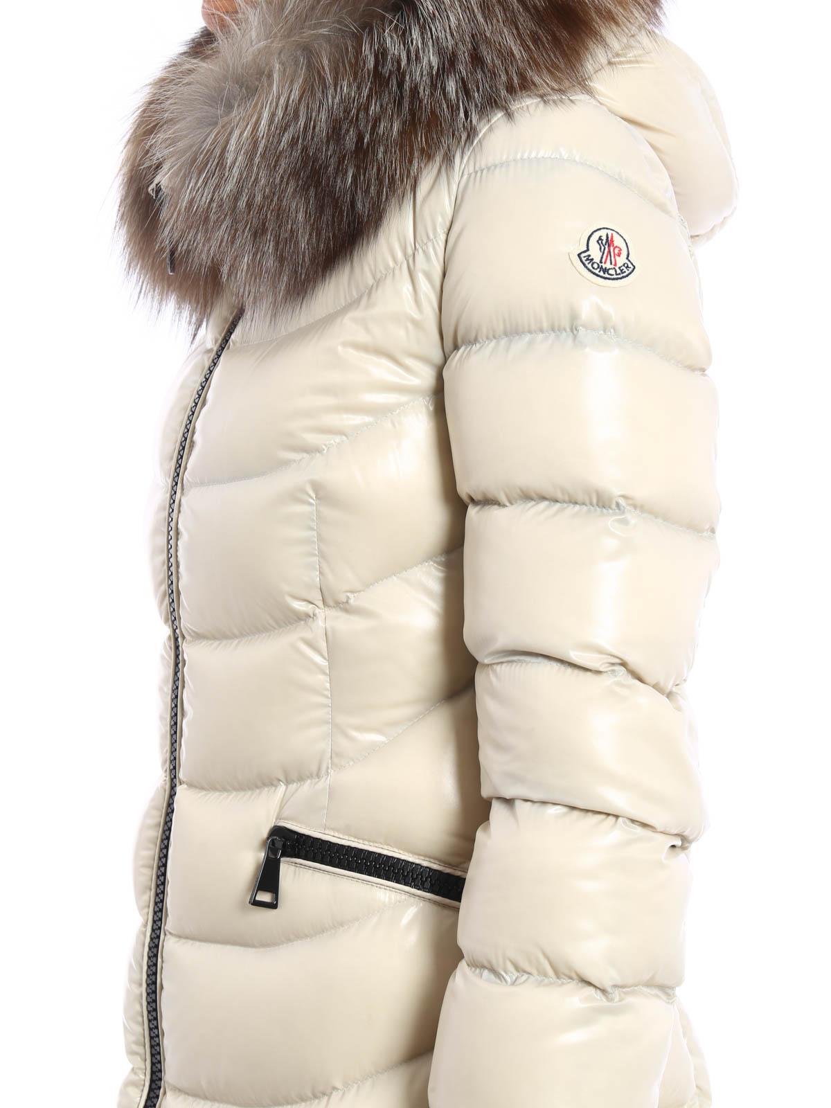 size 40 b8fe1 8e5ab Moncler - Piumino lungo Aphia con pelliccia - cappotti ...