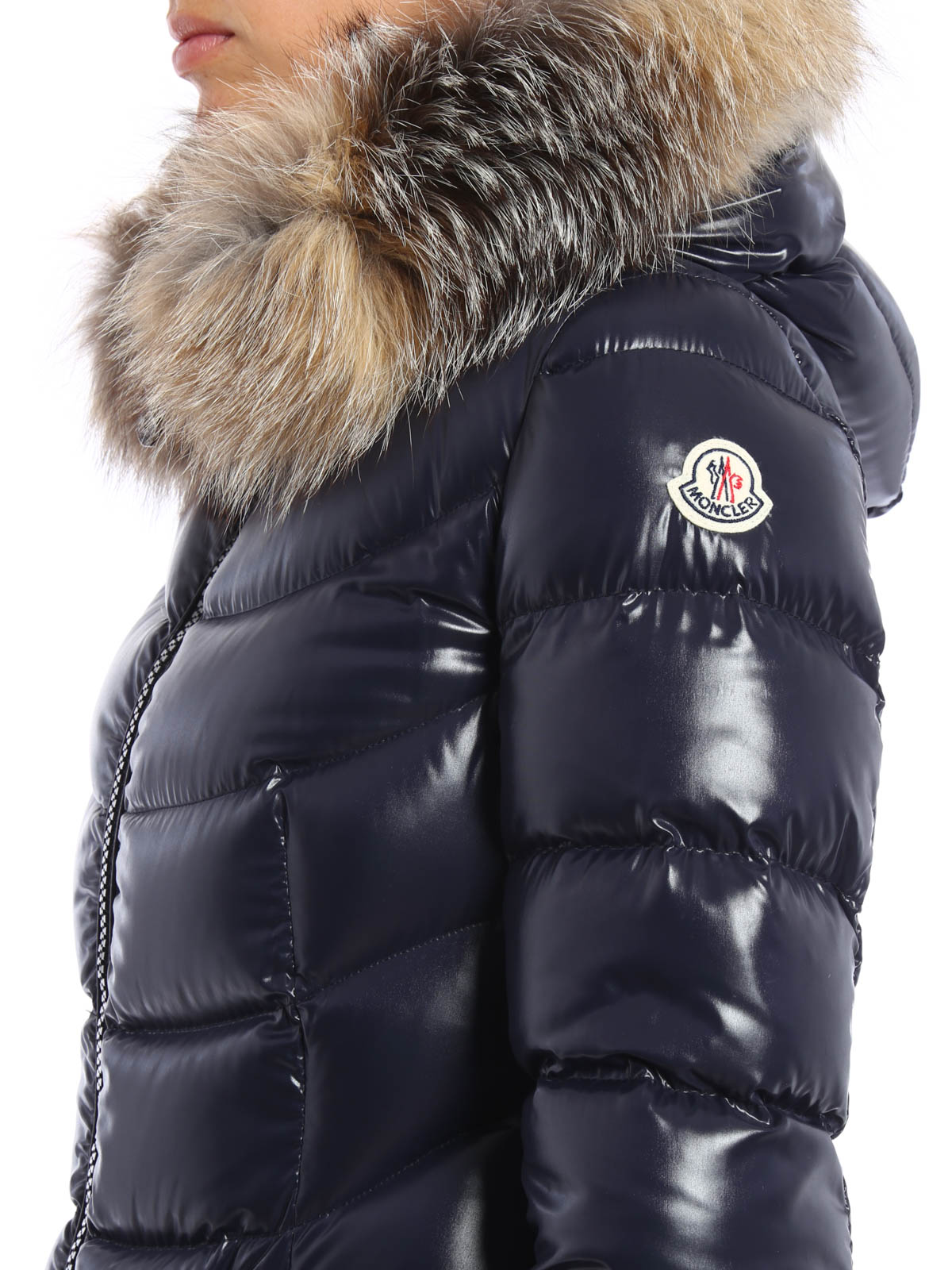 c3ad8121f free shipping moncler fur trimmed hooded long puffer coat quiz dbe73 ...