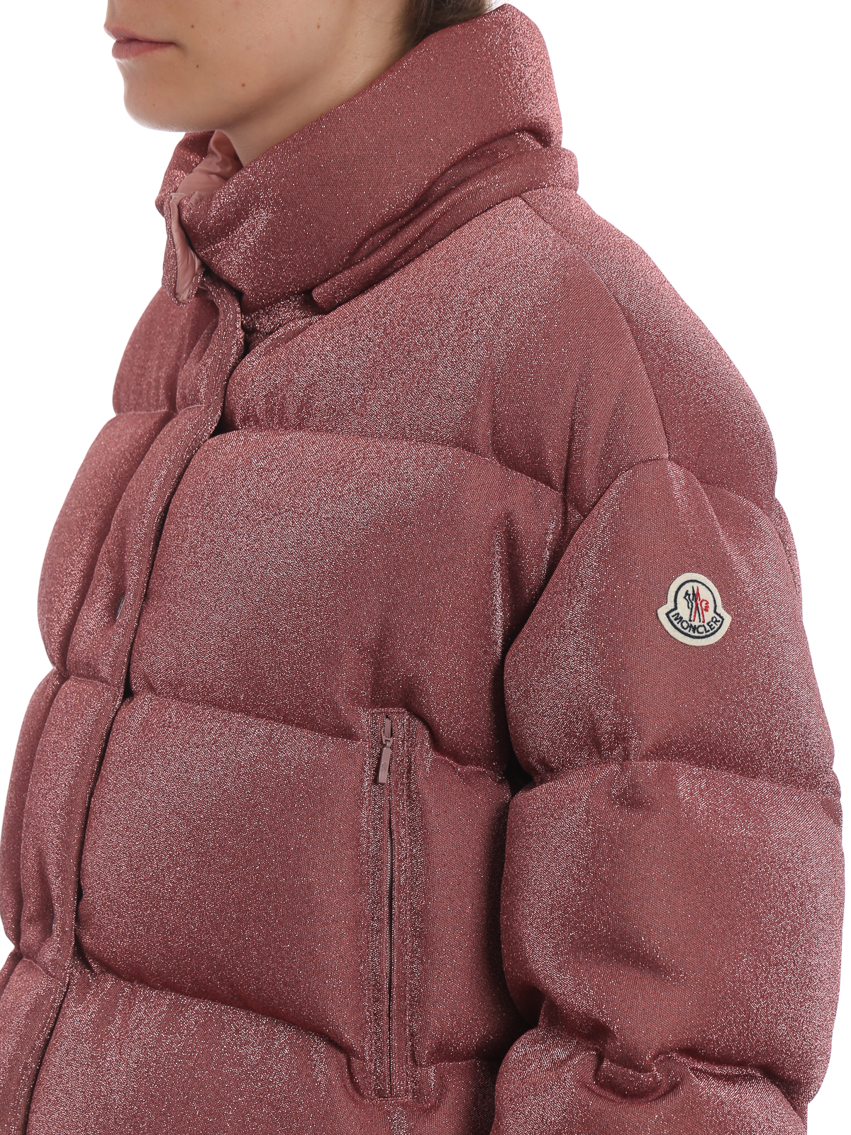 7b60619c4 Moncler - Caille glossy pink puffer jacket - padded jackets - D2 093 ...
