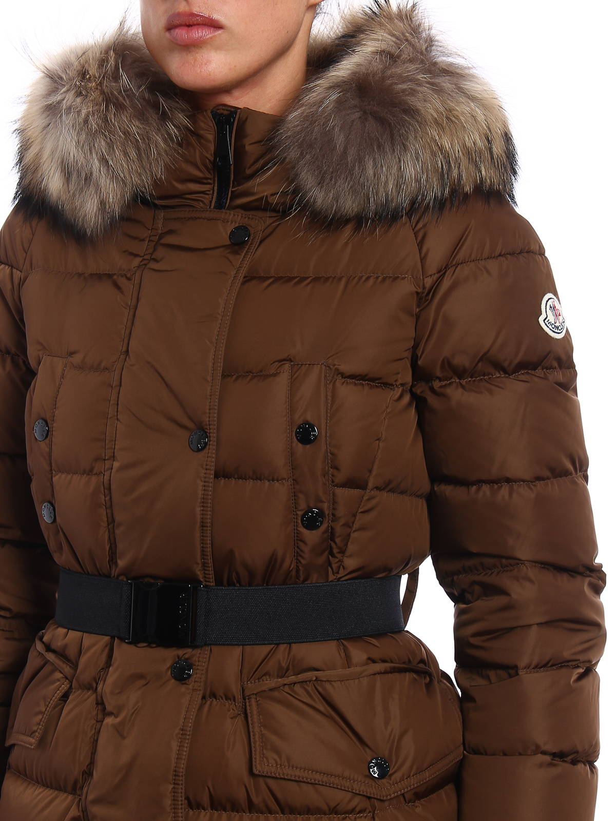 MONCLER buy online Clio fur detailed padded coat