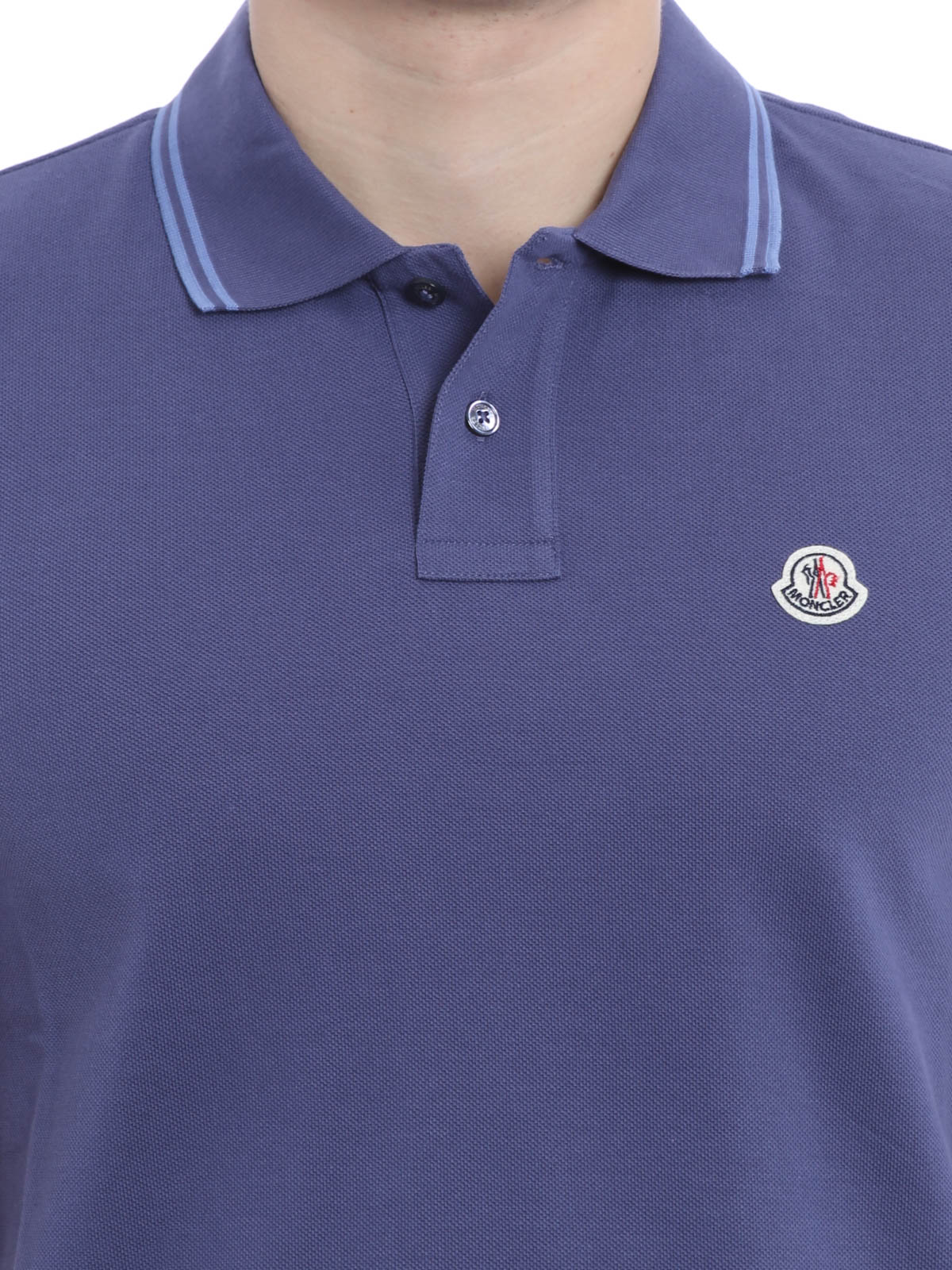 Contrasting Trim Polo Shirt By Moncler Polo Shirts Ikrix