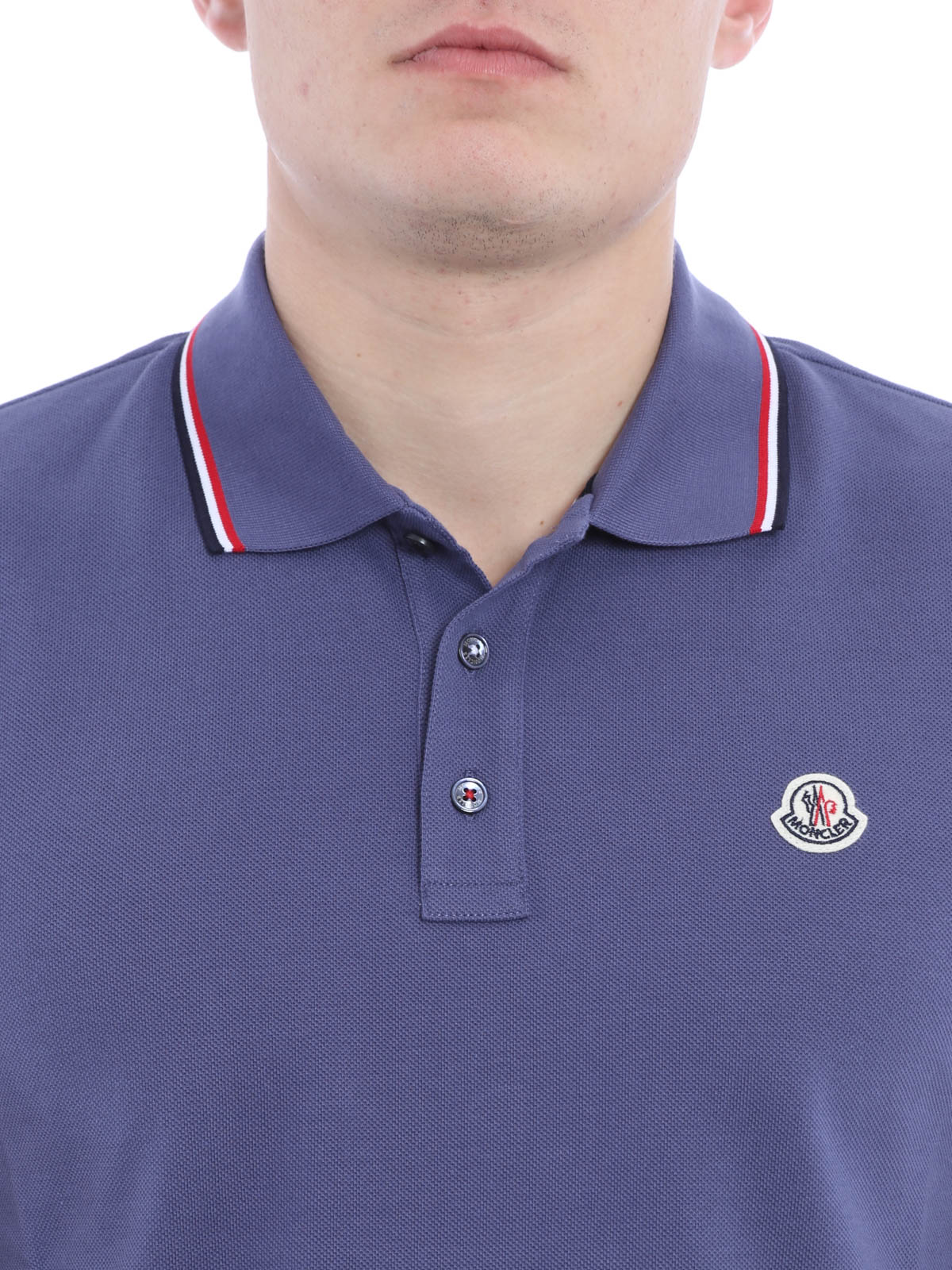 9c47d53f8 Moncler - Cotton pique polo shirt - polo shirts - B1 091 8345600 ...