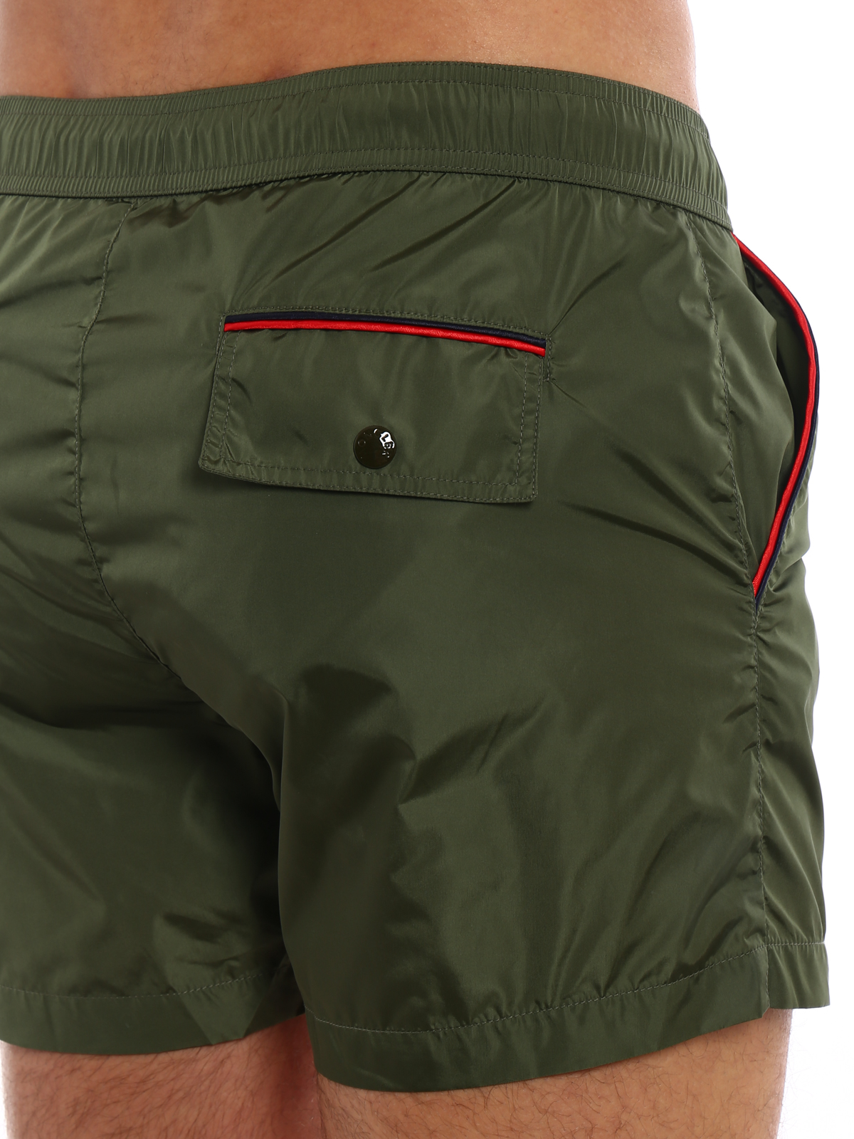 moncler green swim shorts
