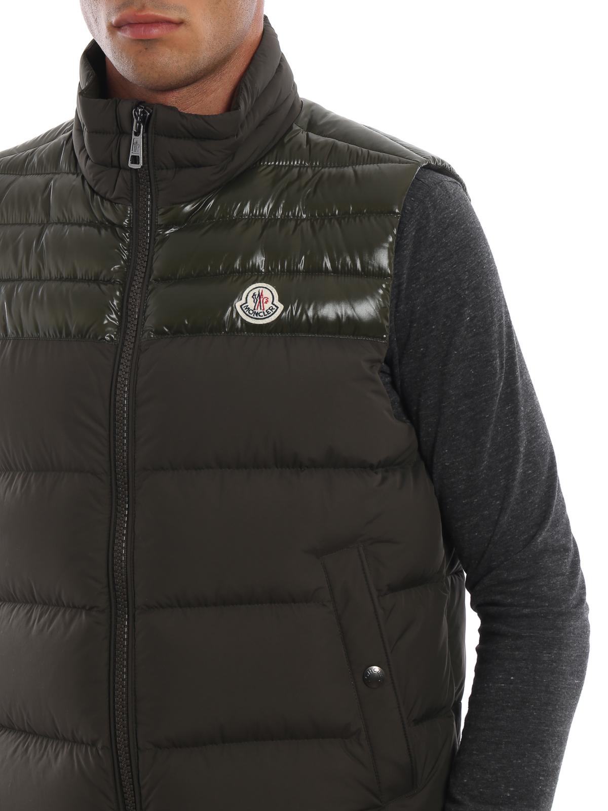 714d1209c234 Moncler - Deneb moss green sleeveless puffer jacket - padded jackets ...