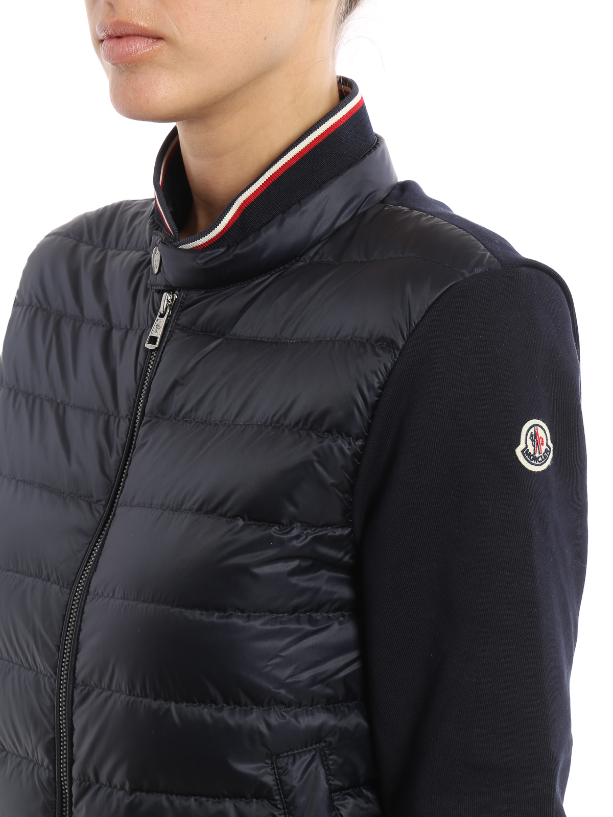 MONCLER buy online Front padded zipped sweatshirt