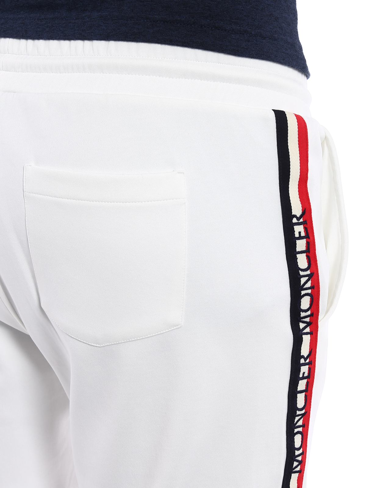 ff4bc7a6c02839 Moncler - Logo band detail white track pants - tracksuit bottoms ...