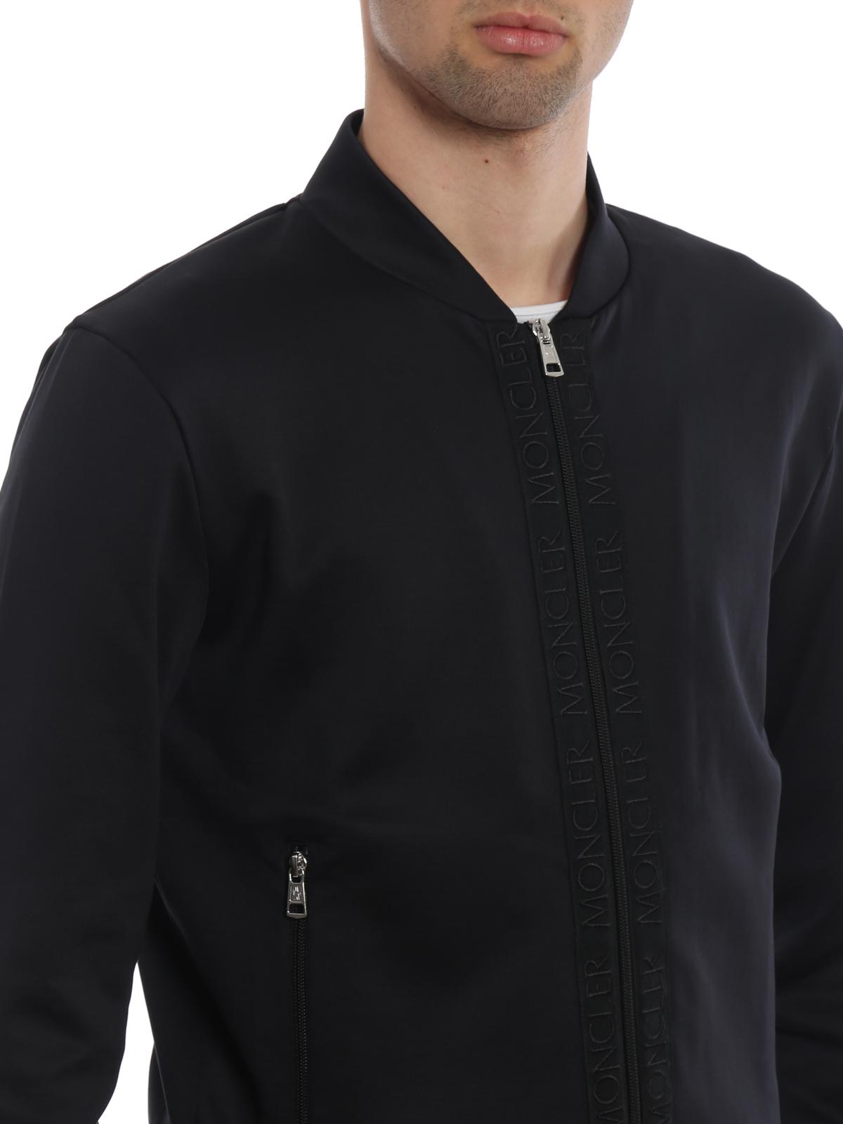 8ed4b0f25 Moncler - Logo bands black sweatshirt - Sweatshirts   Sweaters - D1 ...