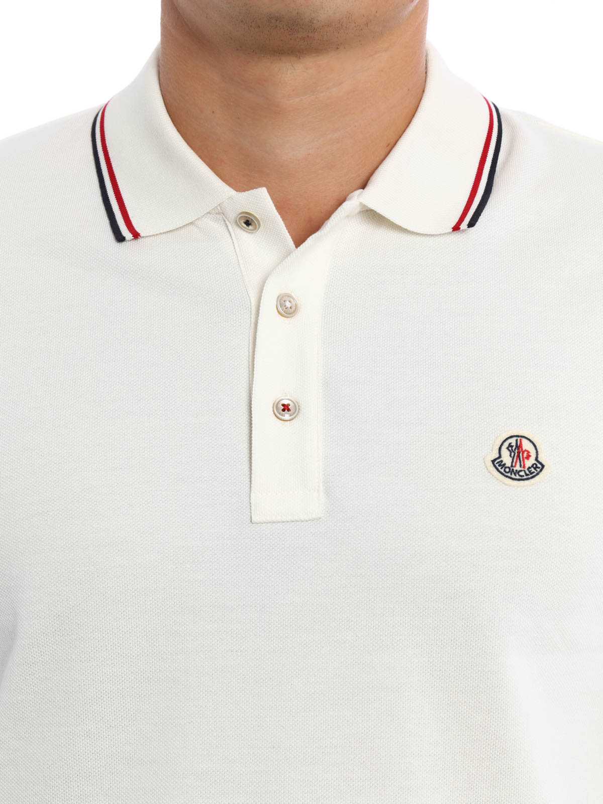 Moncler Polo Weiss