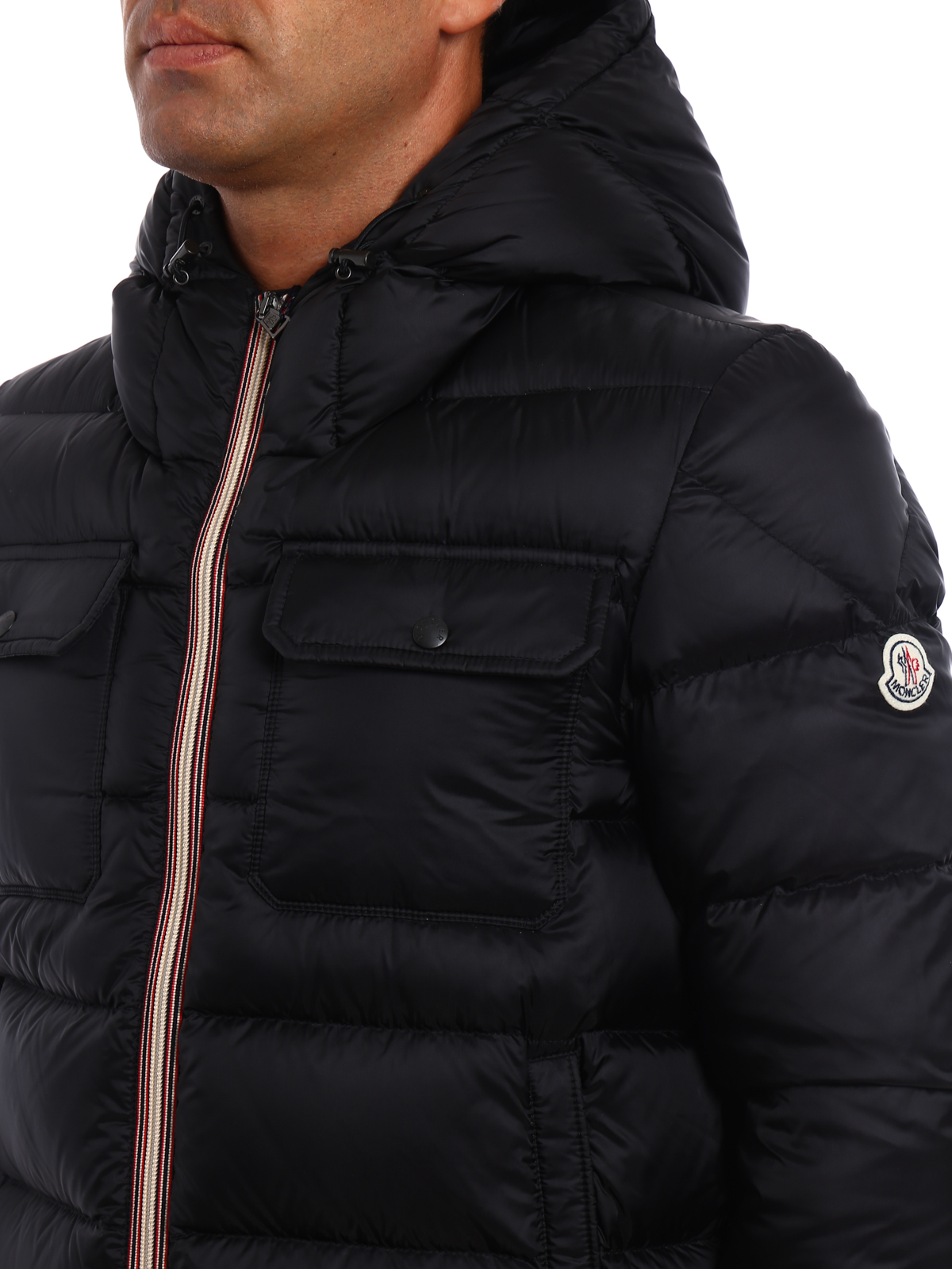 MONCLER buy online Morane black padded jacket