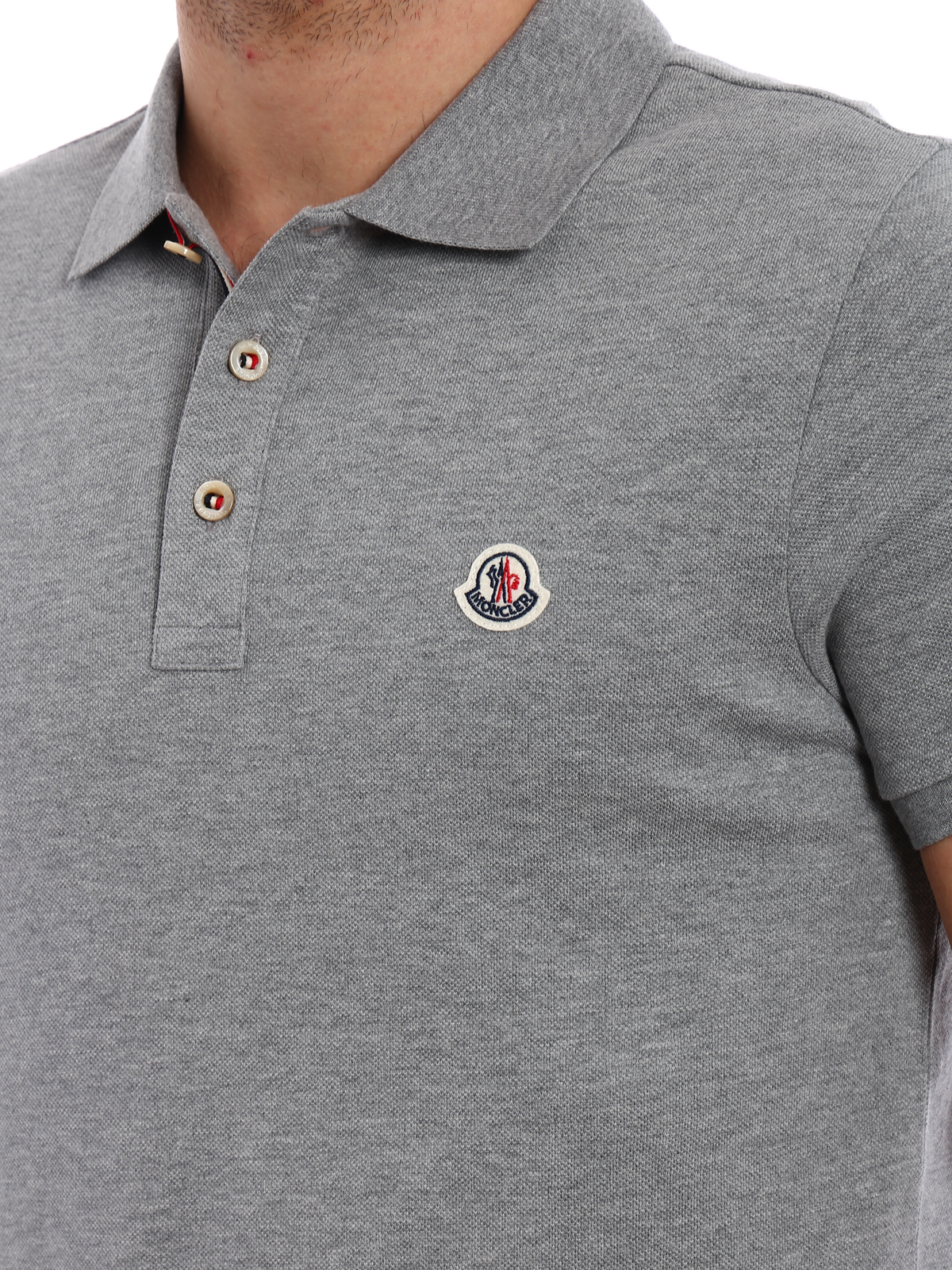 Moncler - Pique cotton polo shirt with logo