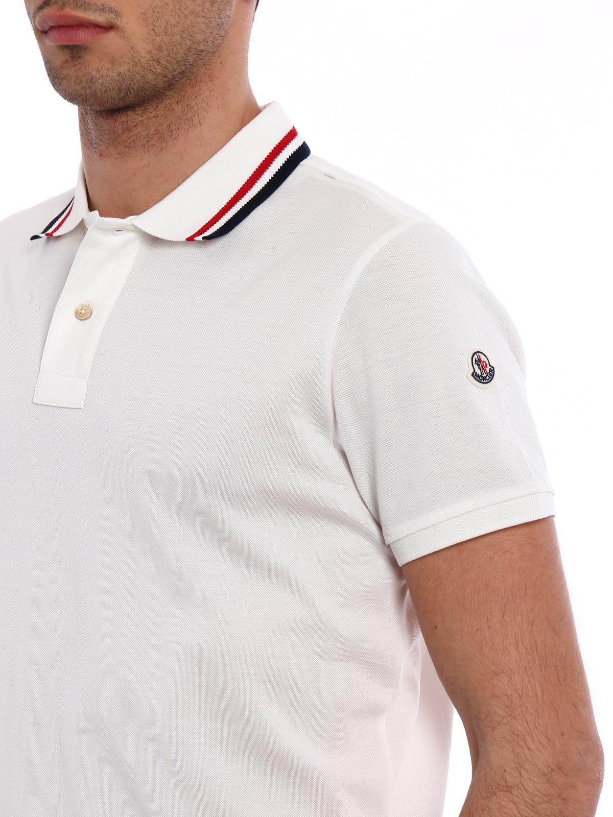b434177594c8 Moncler - Tricolour collar cotton polo shirt - polo shirts - D1 091 ...