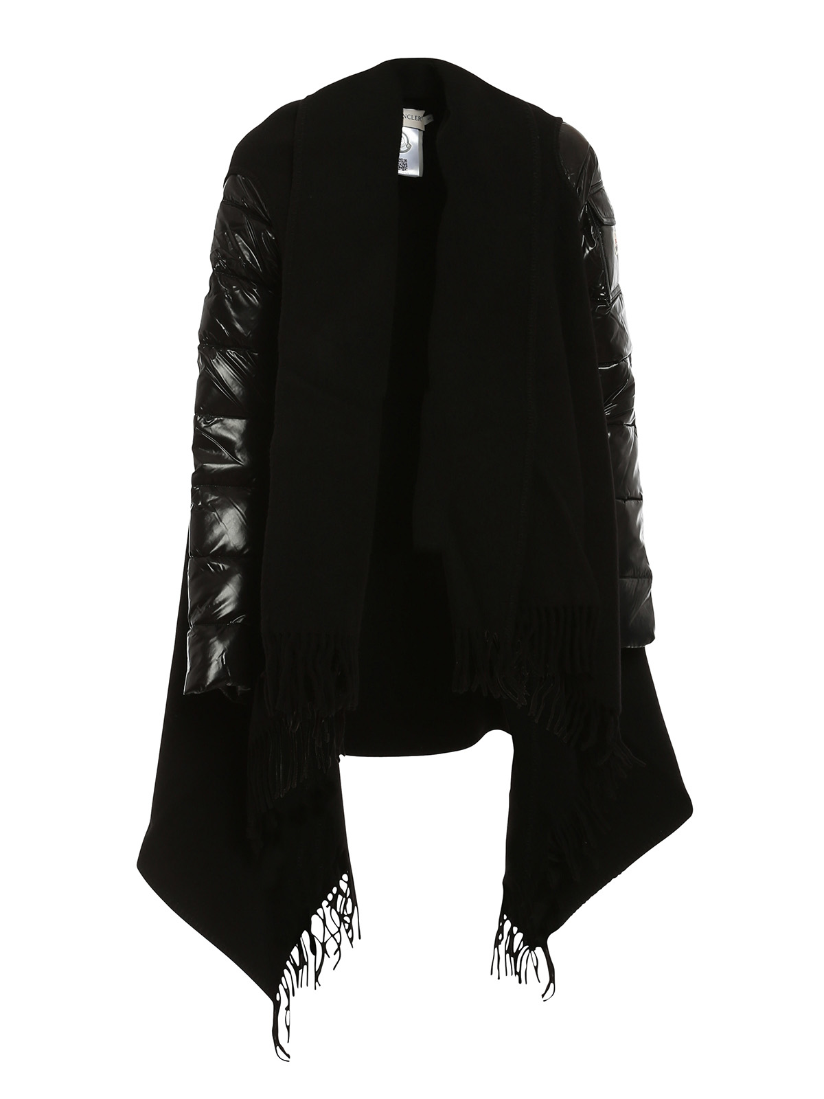 b17e1ea33 Moncler - Wool cape with padded nylon sleeves - Capes   Ponchos - C2 ...