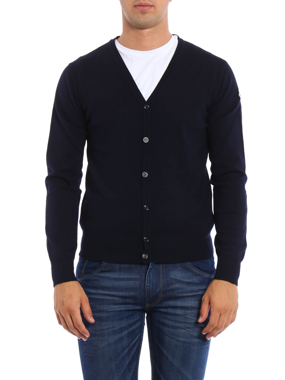 Wool cardigan by Moncler - cardigans | iKRIX