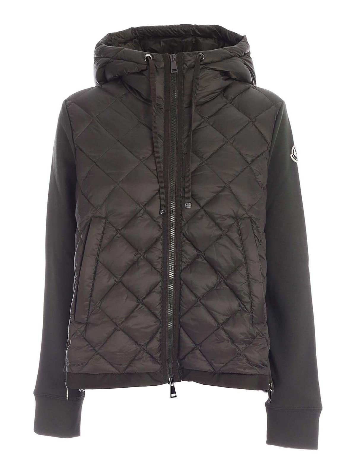 Moncler PADDED CARDIGAN IN GREEN