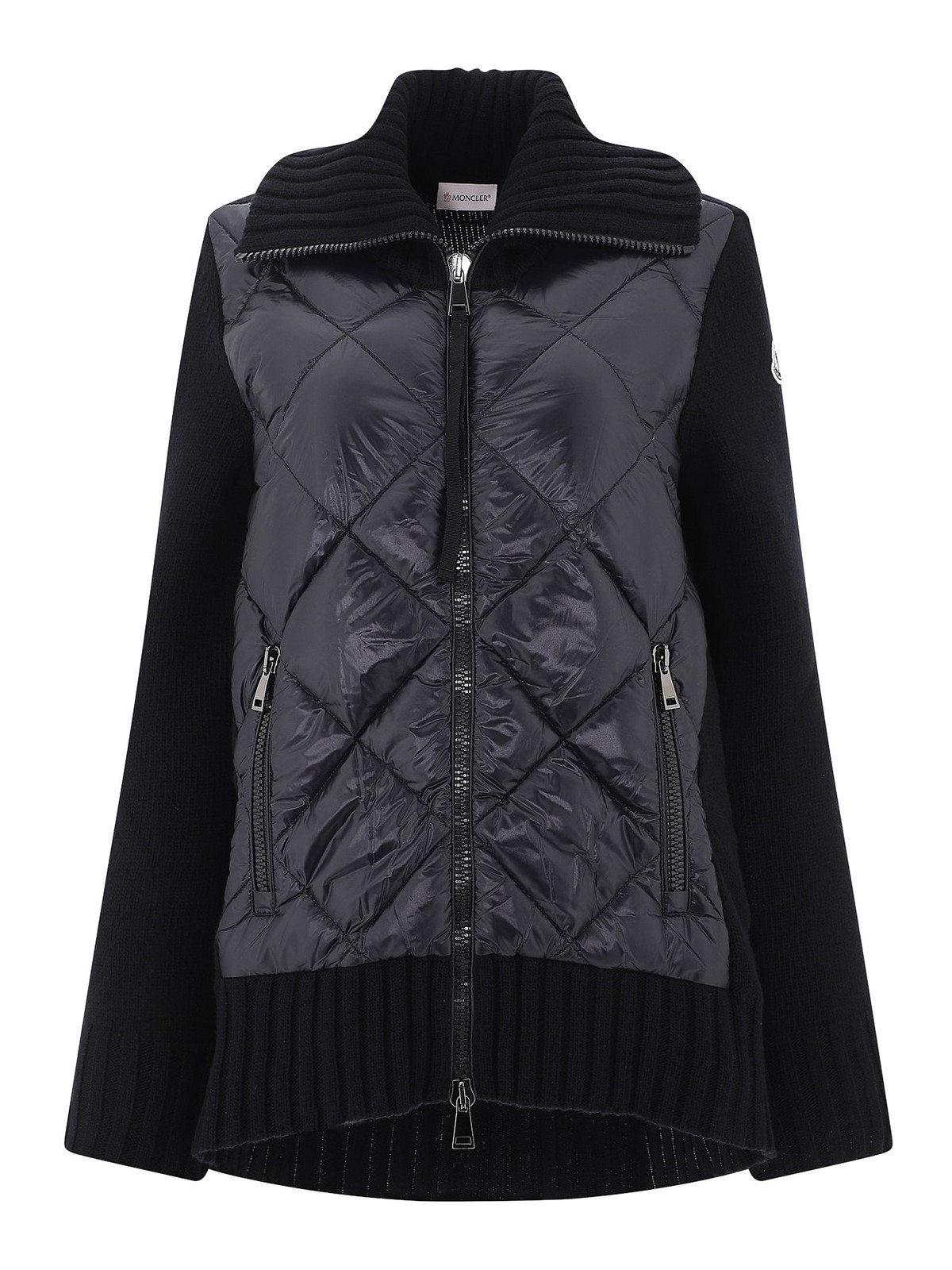 Moncler PADDED FRONT WOOL CARDIGAN