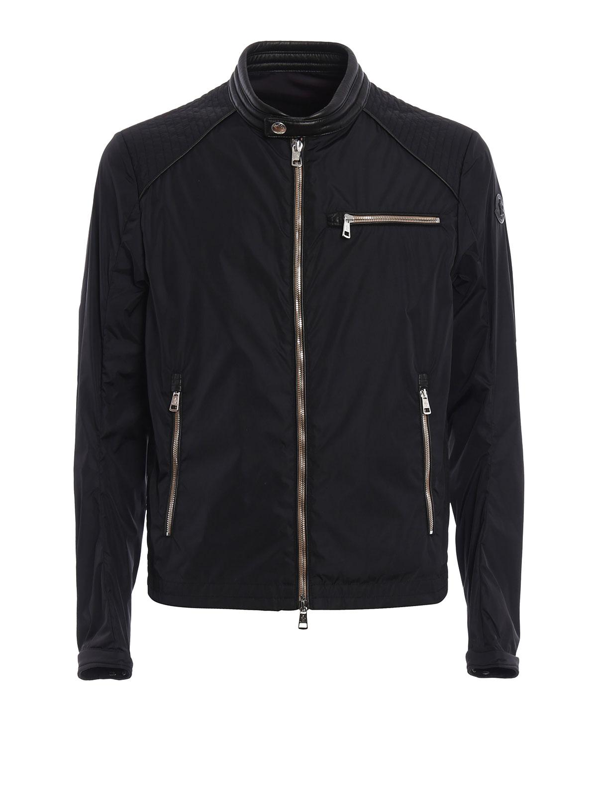 promo code 8dd21 24dc3 Moncler - Giubbotto Mercure dettagli in pelle - giacche ...