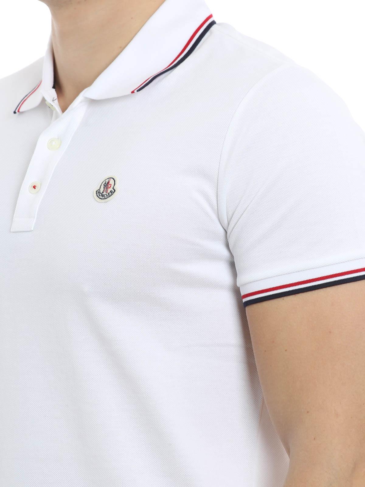 bekannte Marke Volumen groß absolut stilvoll Moncler - Poloshirt Fur Herren - Weiß - Poloshirts - C1 091 ...