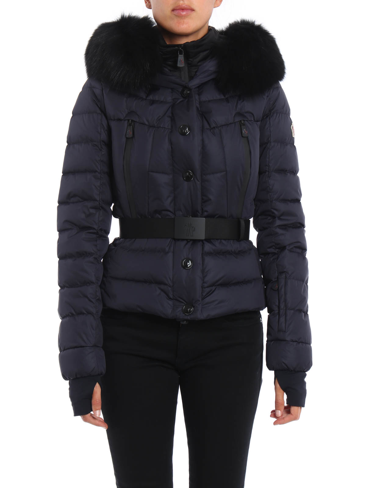 MONCLER GRENOBLE: padded jackets online - Beverley fur trim hooded jacket