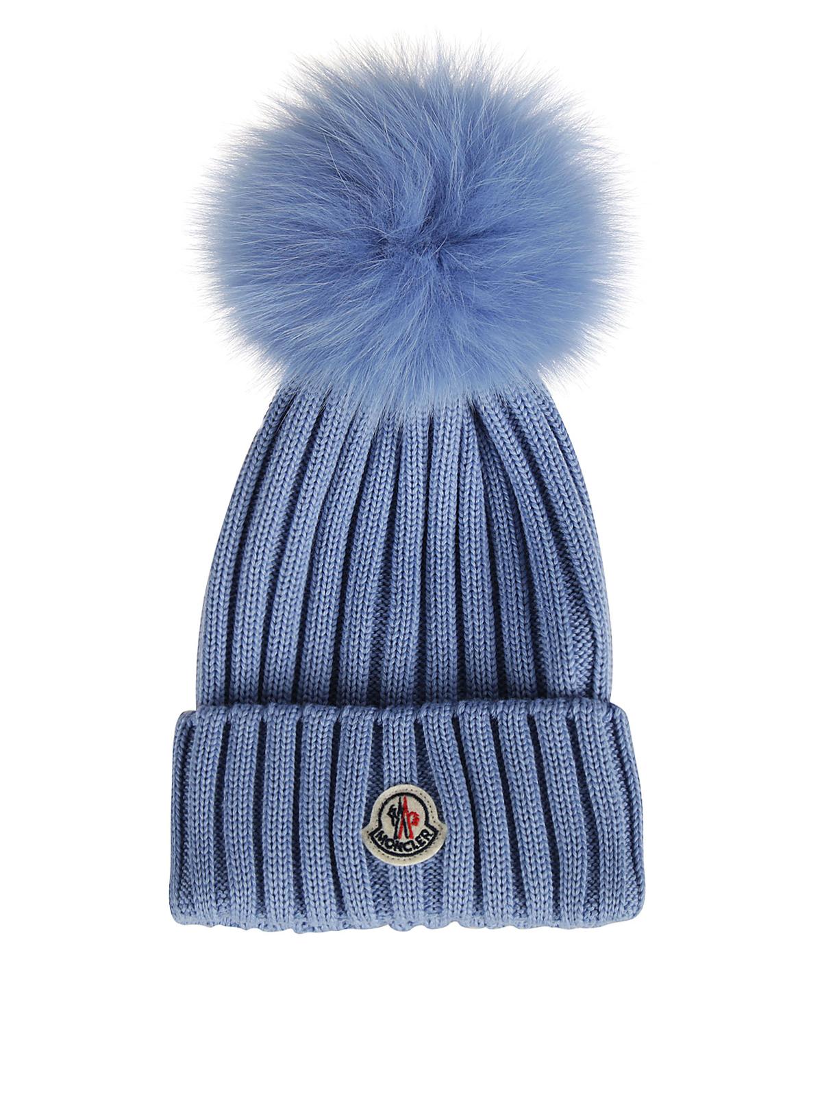 Moncler - Cappellino in lana con pompon - cappelli - 00219 00 03510 70C da0aad1eb6ee
