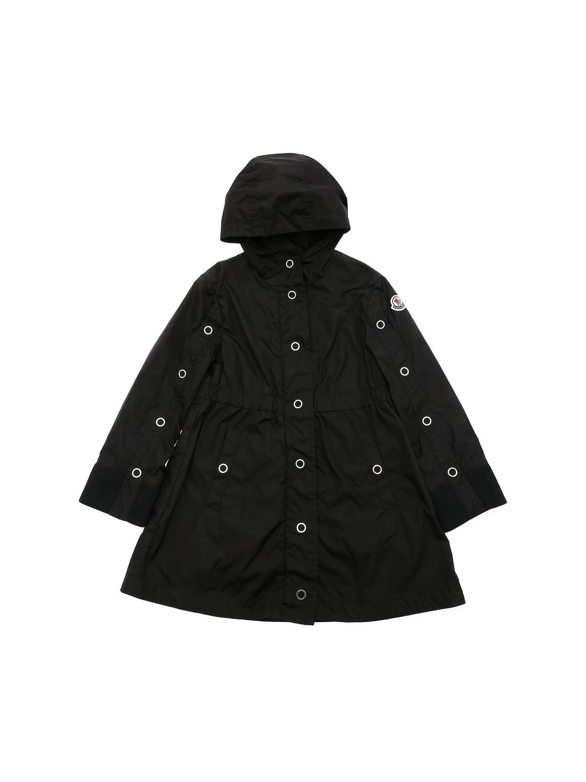 MONCLER JR BLEUET HOODIE JACKET IN BLACK