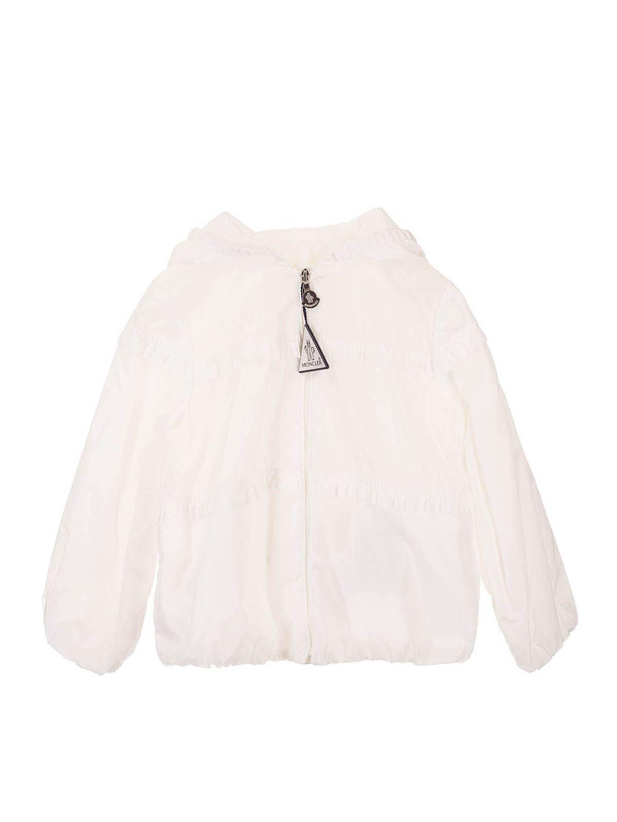 Moncler Jr Kids' Hiti Jacket  In White