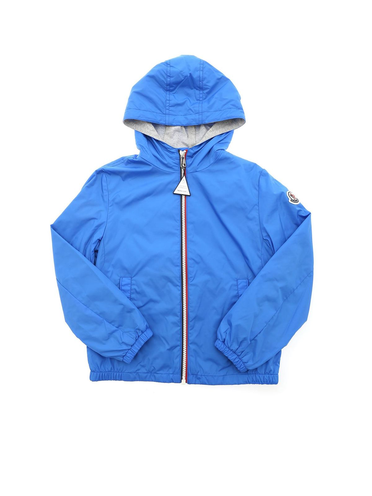 MONCLER JR NEW URVILLE JACKET IN TURQUOISE