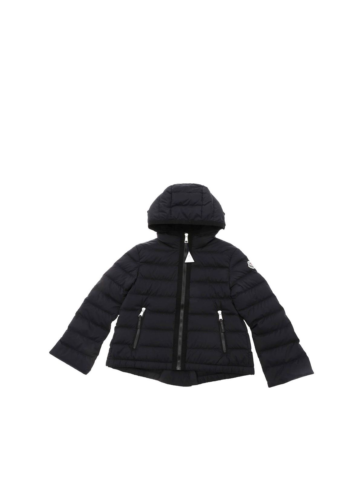 Moncler Jr COSTAS HOODED PADDED JACKET IN BLACK