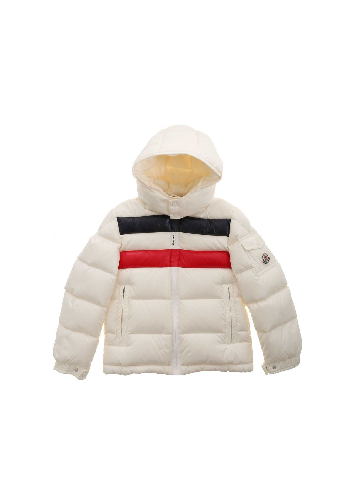 Moncler Jr Downs DELL DOWN JACKET IN IVORY COLOR