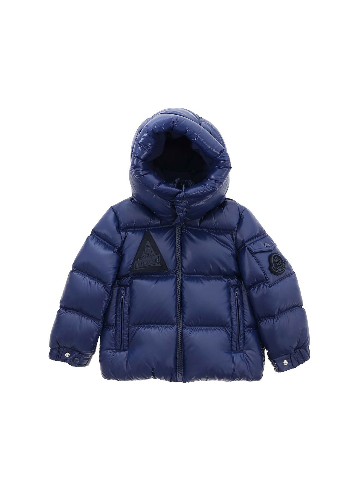 MONCLER JR ECRINS DOWN JACKET IN BLUE