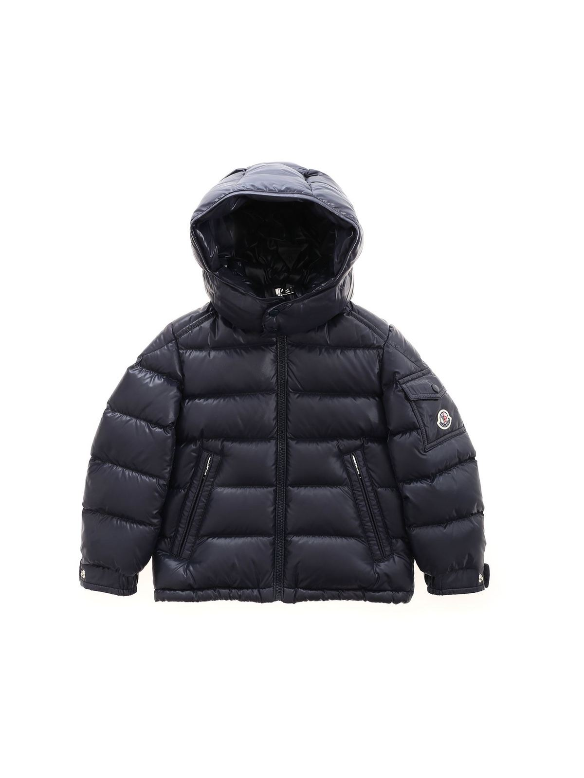 MONCLER JR NEW MAYA DOWN JACKET IN BLUE