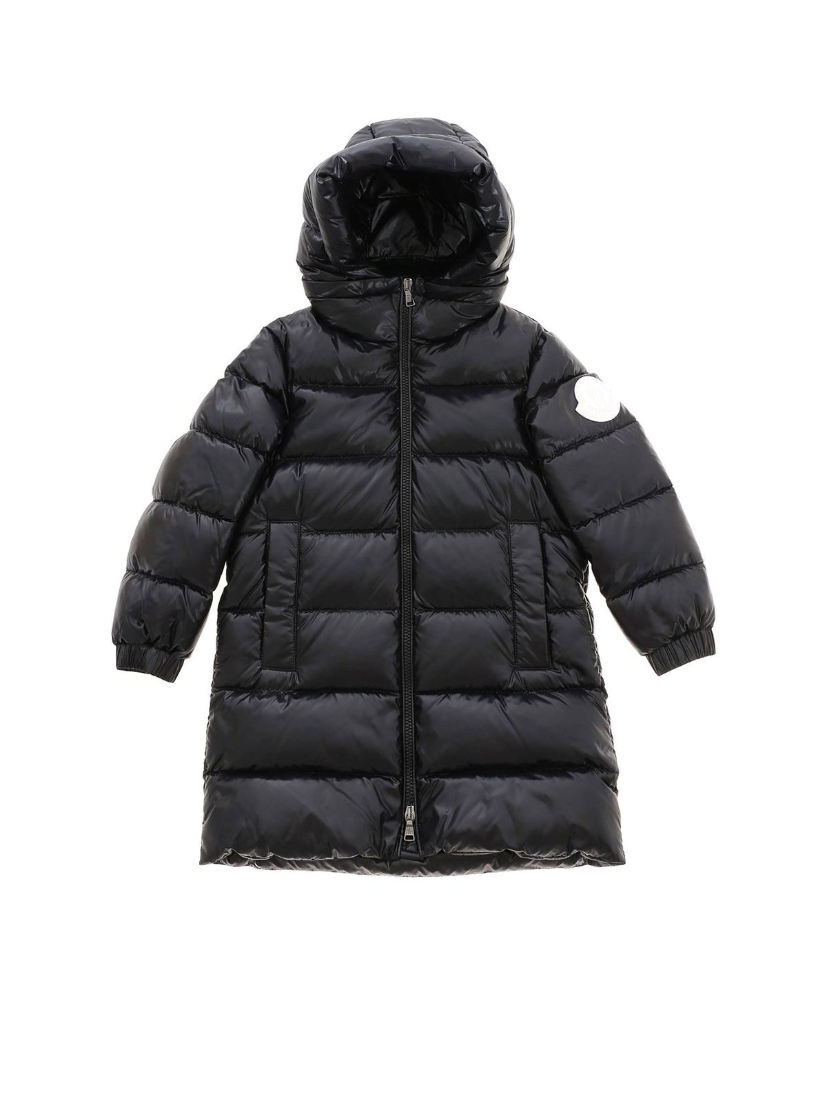 Moncler Jr Downs REMOVABLE HOOD DOWN JACKET IN BLACK