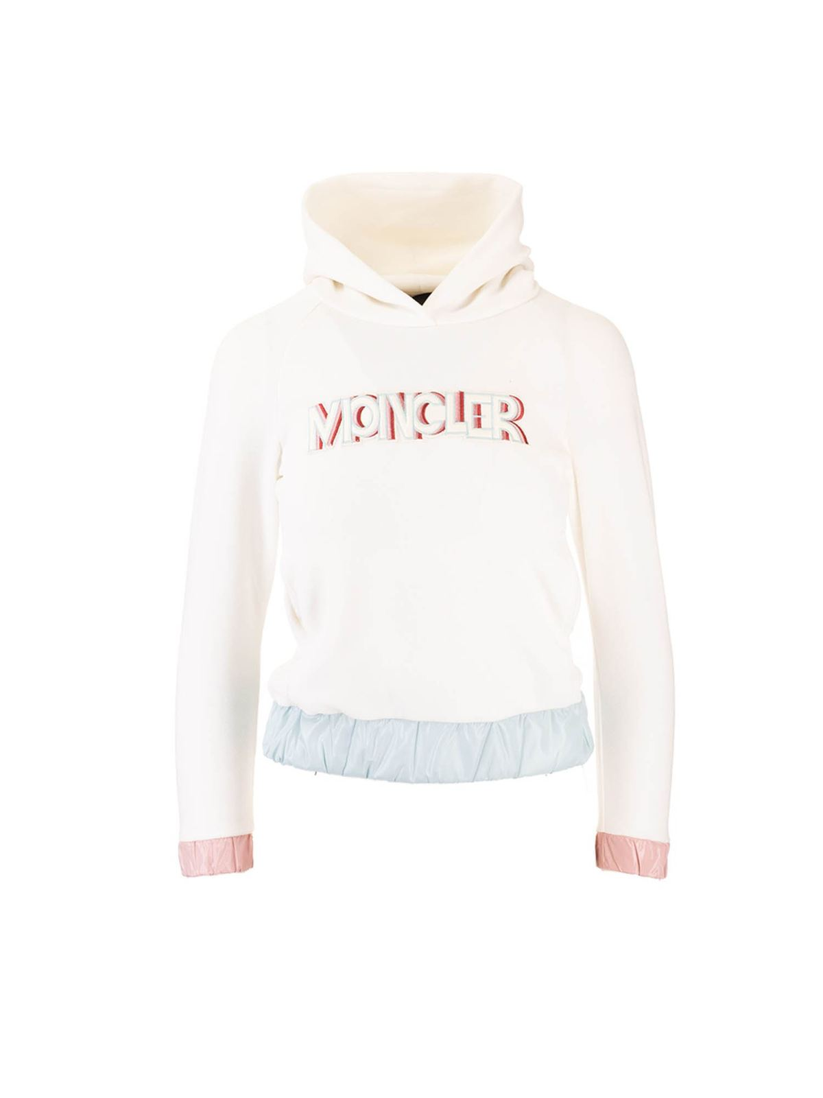 MONCLER JR MONCLER GRENOBLE HOODIE IN WHITE