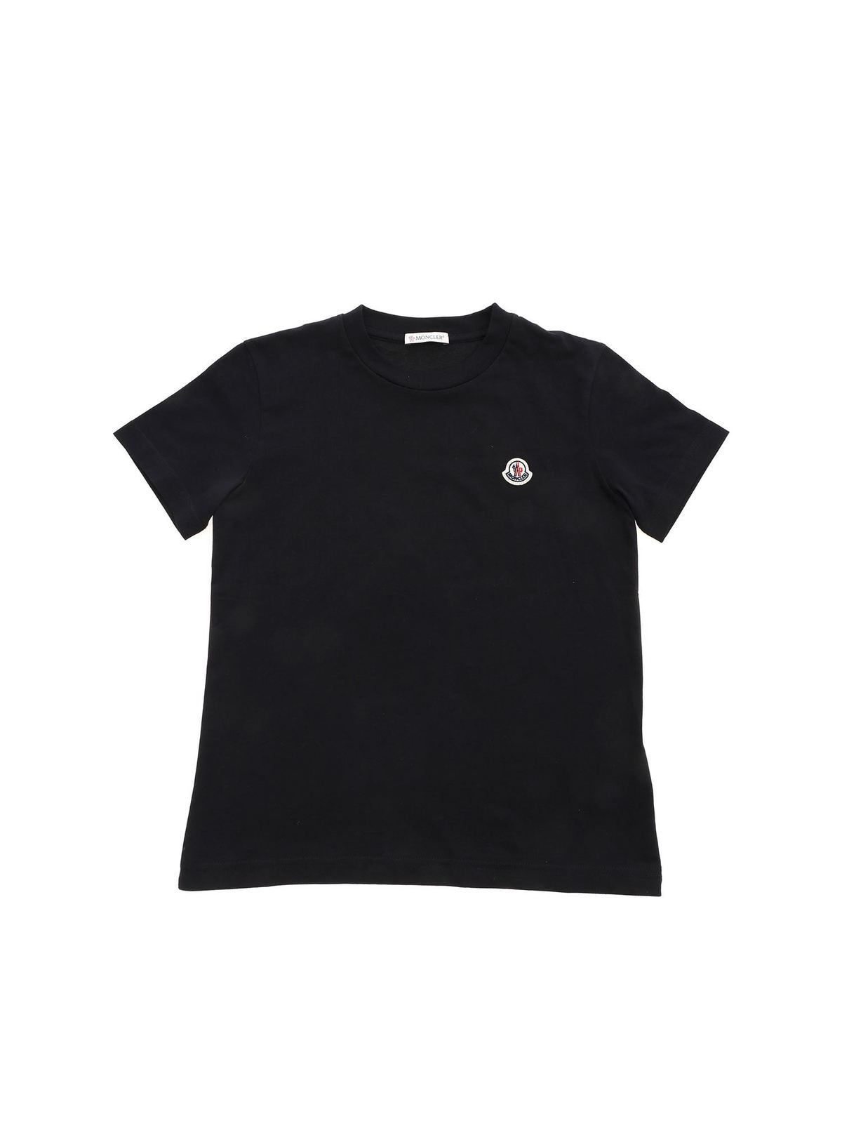 MONCLER JR LOGO PATCH T-SHIRT IN BLACK