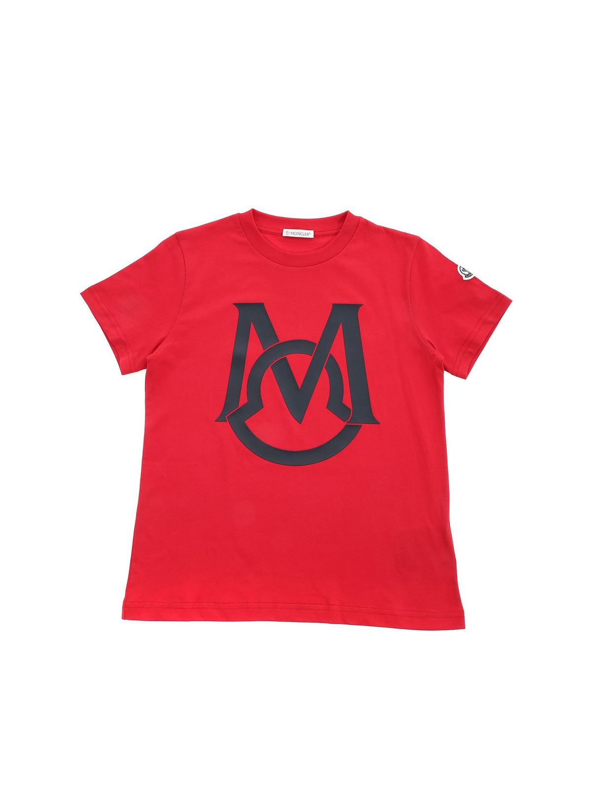 MONCLER JR M T-SHIRT IN RED