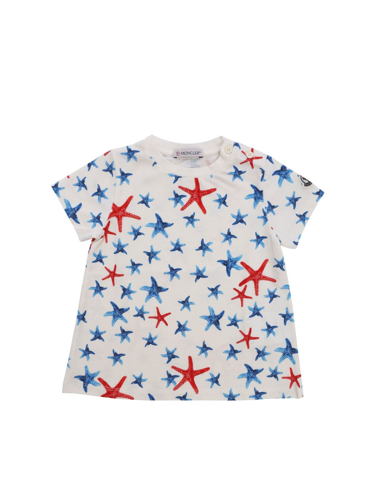 MONCLER JR MONCLER JR T-SHIRT WITH STARFISH PATTERN
