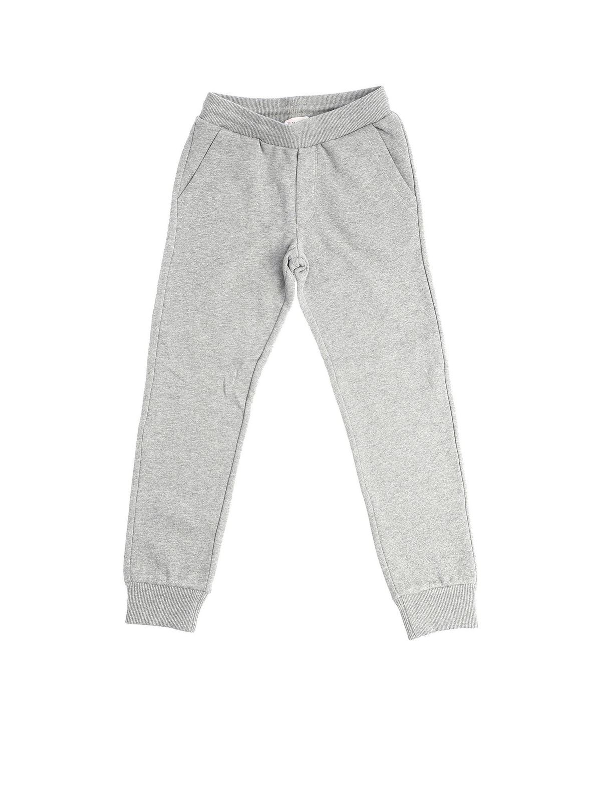 MONCLER JR GREY SWEAT PANTS