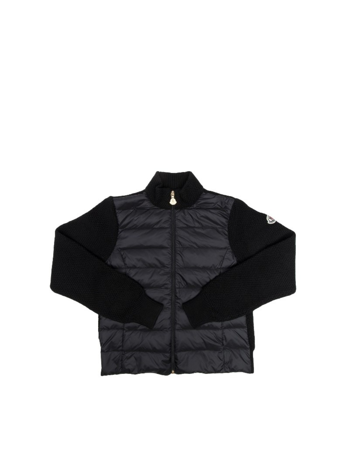 MONCLER JR WOOL CARDIGAN WITH PADDED INSERT