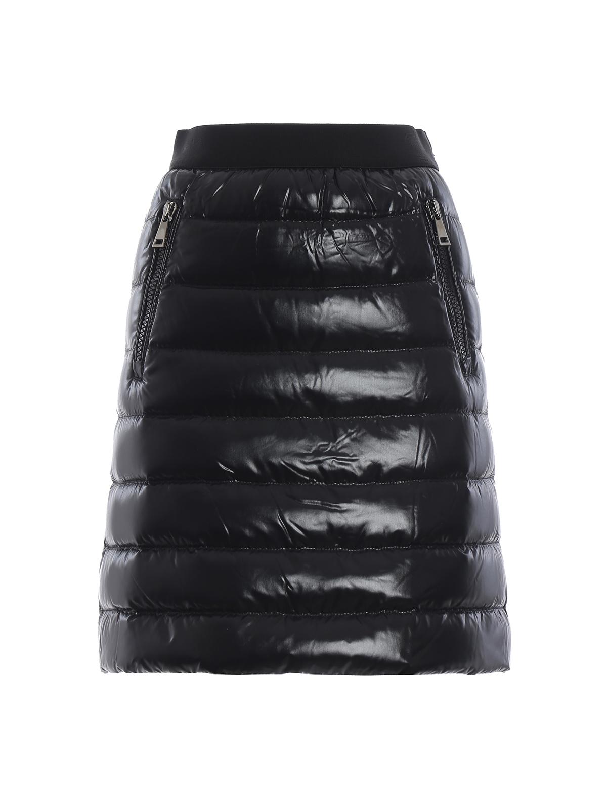 0f2d24823 Moncler - Black patent puffer mini skirt - mini skirts - D2 093 ...