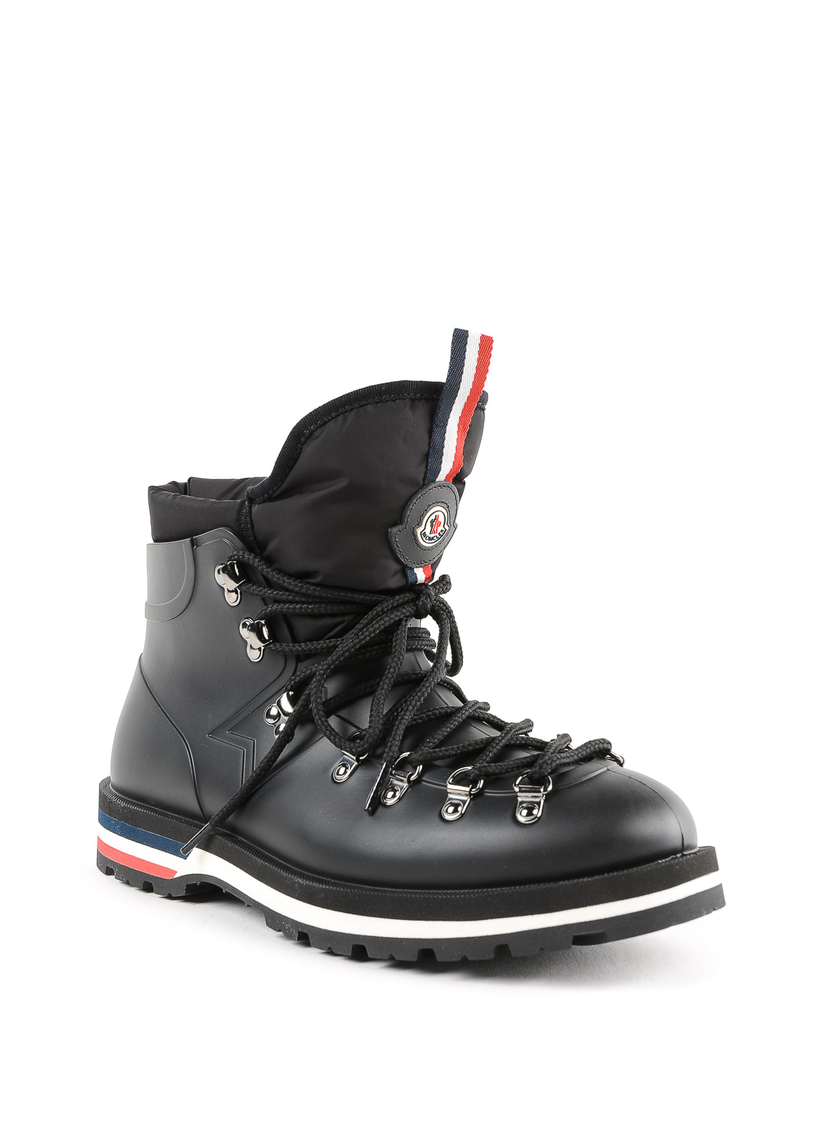 74eb6be0cac Moncler - Henoc black rubber lace-up hiking boots - ankle boots ...