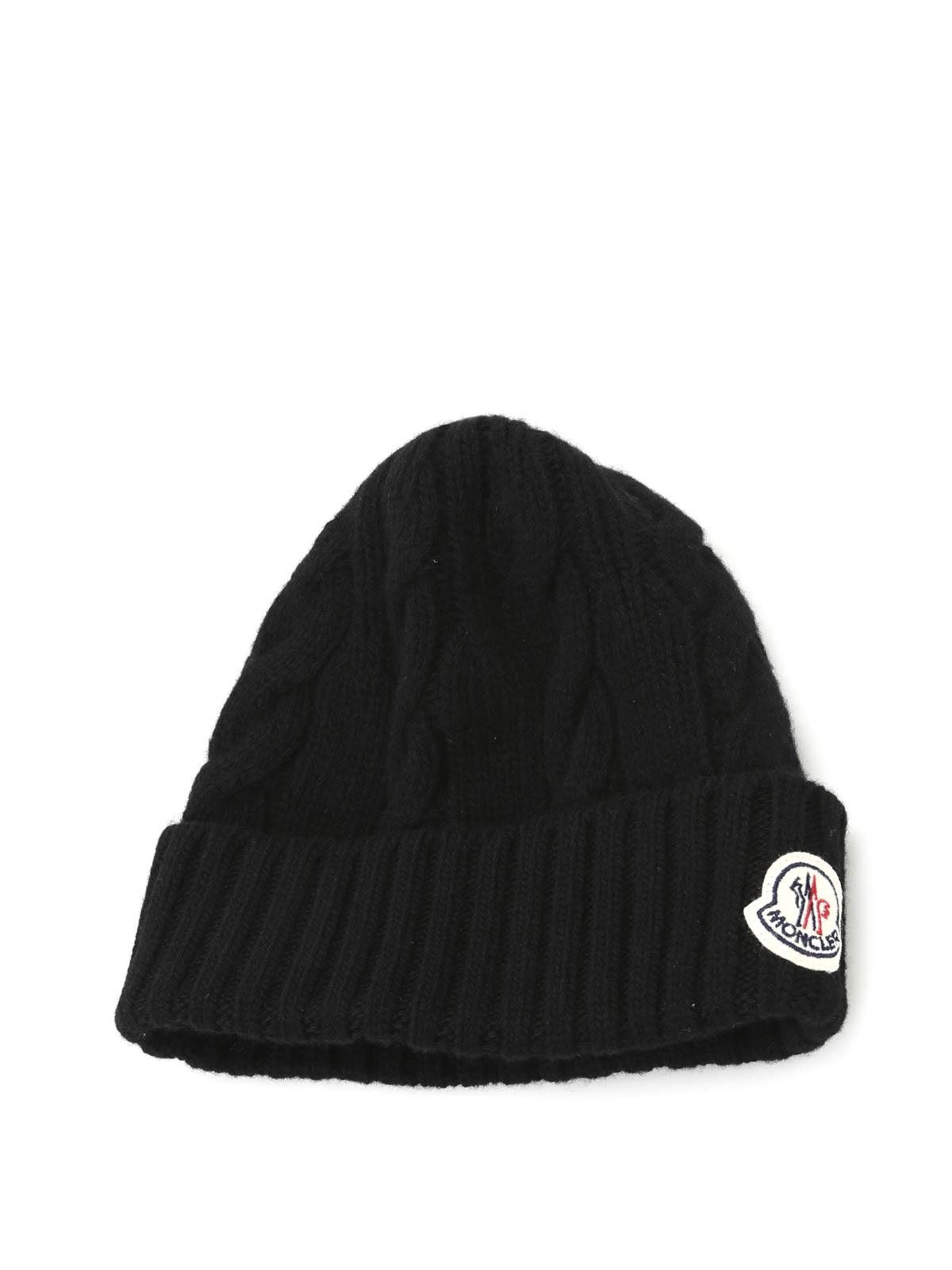 MONCLER  berretti online - Cappellino di lana con trecce 89006b6ce6dd