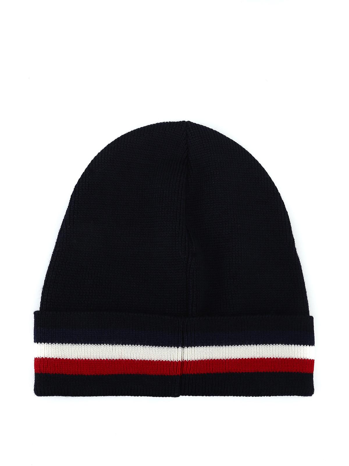 1a6183446d904 Moncler - Striped turn-up knit wool blue beanie - beanies - D2 091 ...