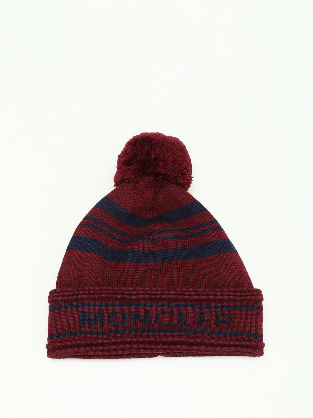 f9080e1bab6 Moncler - Striped virgin wool beanie - beanies - C2 091 0090700 ...