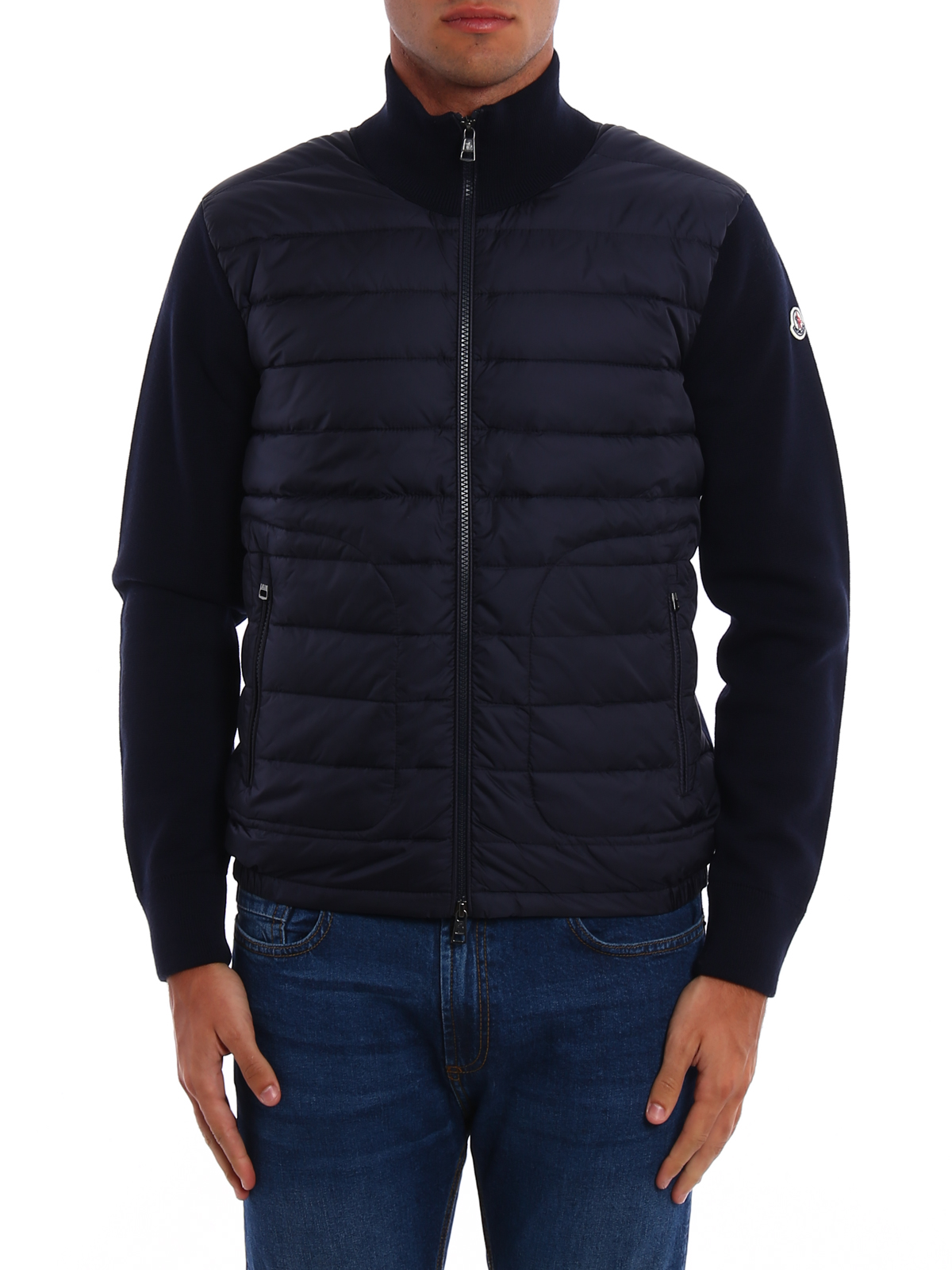 aeaa7675e Moncler - Front padded tricot cardigan - cardigans - C2 091 9412700 ...