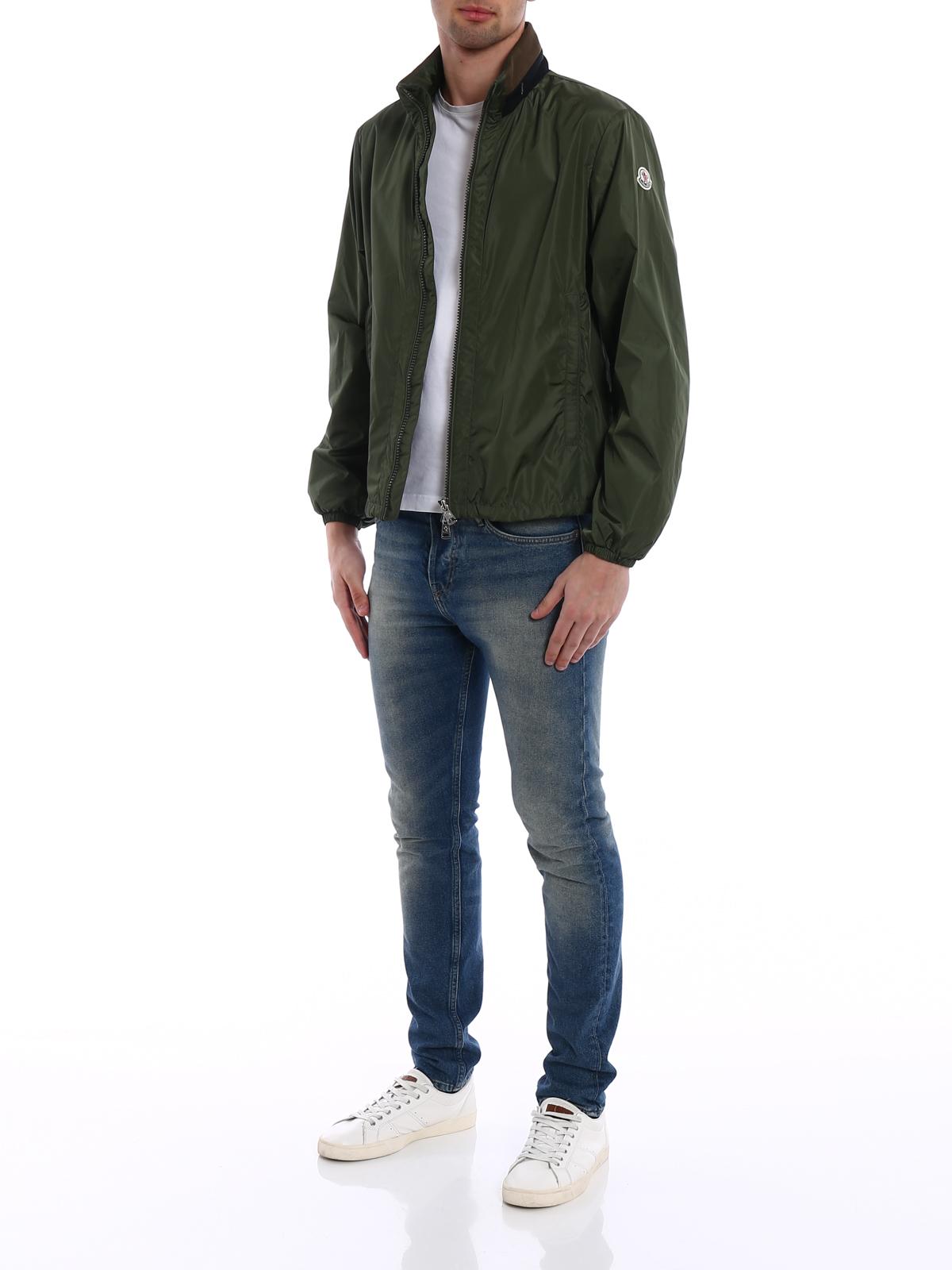 MONCLER: casual jackets online - Goulier dark green jacket