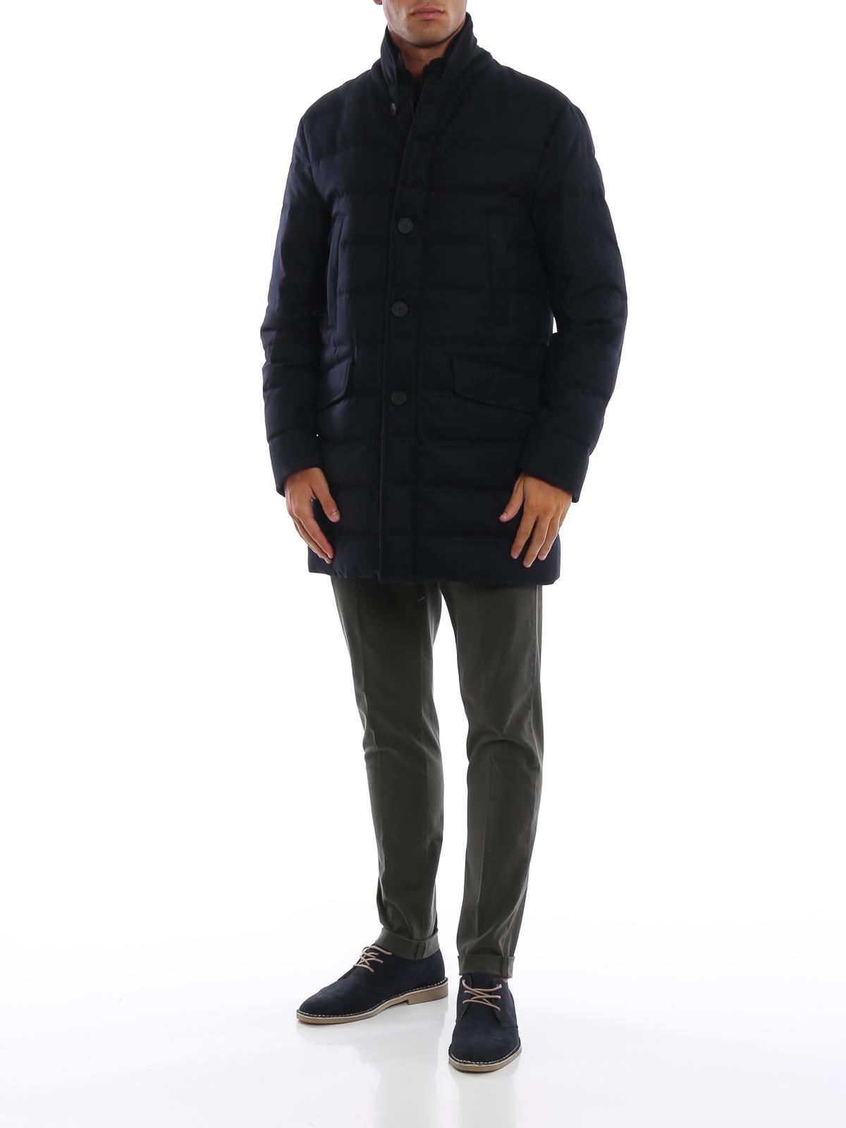 5256912a5 Moncler - Keid dark blue wool twill puffer coat - padded coats - D2 ...