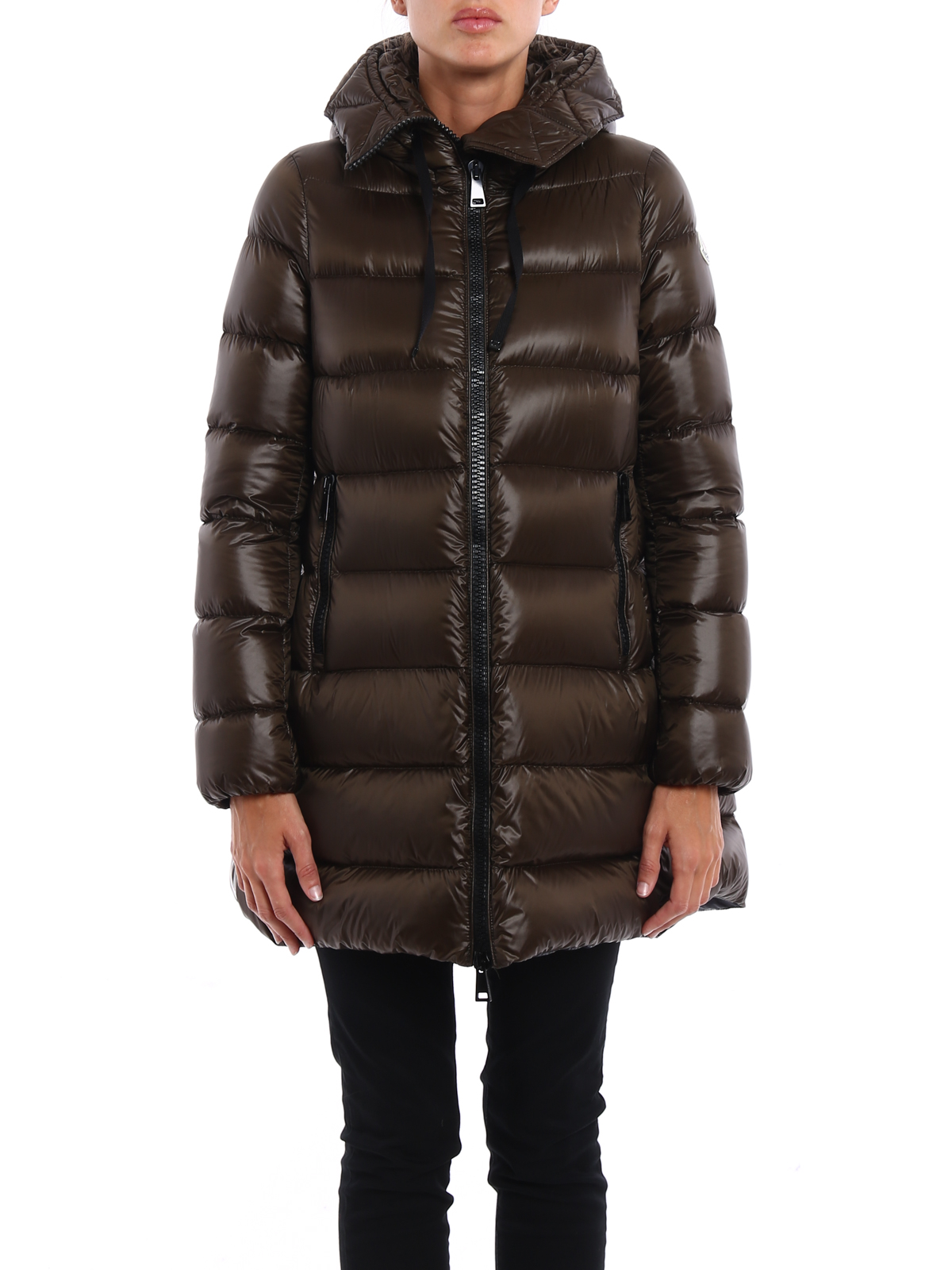 MONCLER: padded coats online - Suyen padded hooded coat
