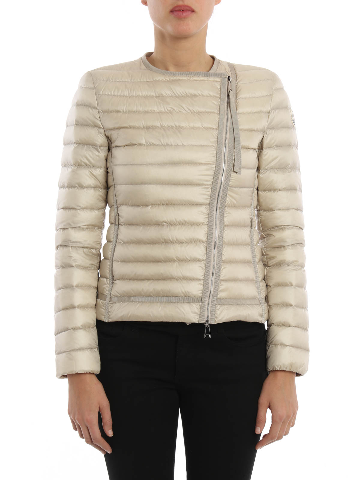 MONCLER: padded jackets online - Amy asymmetric fastening jacket