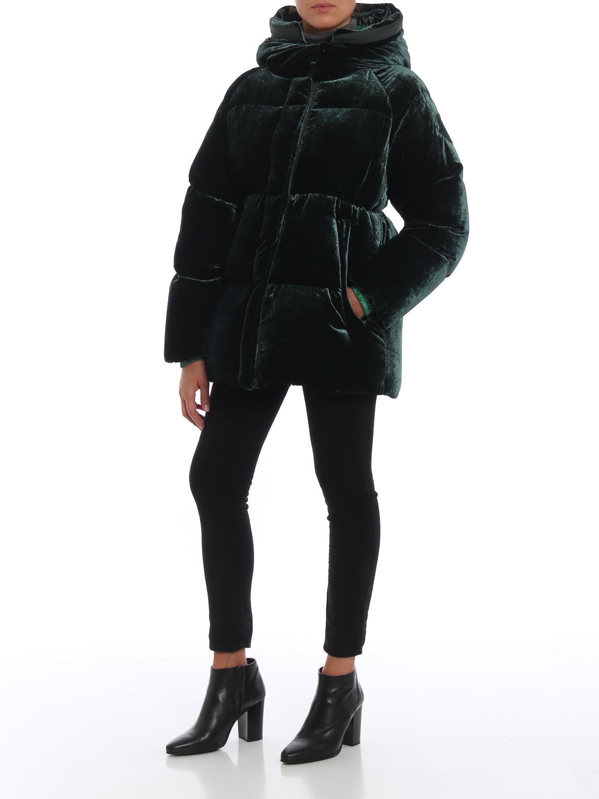 aaf788b0aa6e Moncler - Butor soft velvet hooded puffer jacket - کاپشن - D2 093 ...